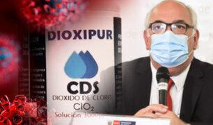 Minsa advierte que Dióxido de cloro puede producir severas consecuencias