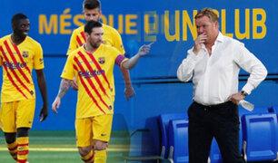 Barcelona superó 3-1 al Nástic en debut de Koeman