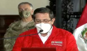 Ministro de Defensa rechaza actitud de Manuel Merino