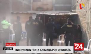 Trujillo: intervienen a orquesta y asistentes durante una fiesta en plena pandemia