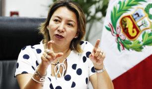 Ministra Rocio Barrios instó a todos a respetar el orden democrático