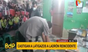 Ronderos de Cajamarca azotan a ladrón que robaba desde la infancia