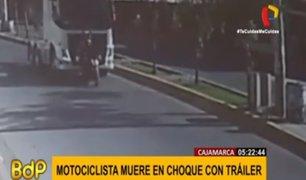 Cajamarca: accidente de moto deja una persona muerta