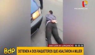 SJL: caen peligrosos delincuentes tras asaltar a una mujer