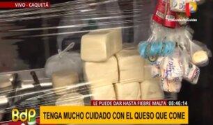 Cuidado con el queso que come: Minsa realizó operativo en Caquetá