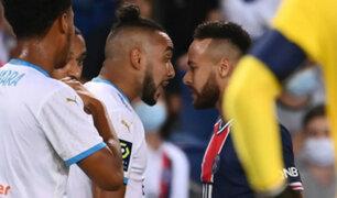 """Neymar expulsado de partido con Marsella: """"es un racista, por eso le pegué"""""""