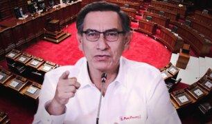 """Vizcarra: """"Es conspiración, confío que las fuerzas democráticas no lo van a permitir"""""""