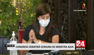 María Antonieta Alva: Congreso decide hoy si censura o no a ministra de Economía