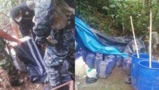 Comando Vraem incautó 350 kilos de droga en estado sólido y líquido
