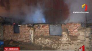 Pueblo Libre: bombero resulta herido al sofocar incendio en vivienda