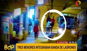 El Agustino: capturan a menores que integraban banda 'Los buitres del ferrocarril'