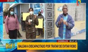 Chorrillos: adulto mayor lucha por su vida tras ser baleado por delincuentes