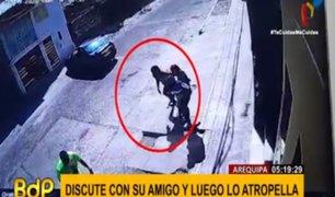 Arequipa: sujeto fue atropellado por su propio amigo tras discusión