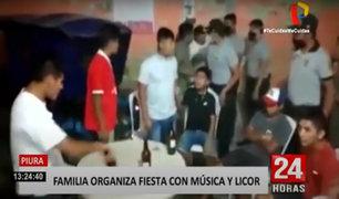 Piura: operativo policial interviene a 25 personas consumiendo licor en fiesta