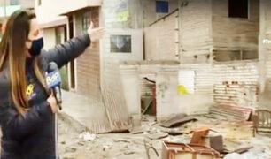 SJM: vecinos denuncian que sujetos se drogan en terreno abandonado