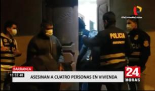 Barranca: asesinan a cuatro personas en vivienda