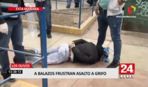 A balazos frustran asalto contra grifo en Los Olivos