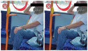 Reino Unido: pasajero de bus es captado utilizando a serpiente como mascarilla