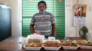 Ucayali: mujer intentó ingresar droga camuflada en arroz chaufa al penal