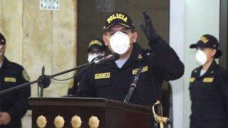 Comandante general de la PNP dio positivo al COVID-19 y se encuentra aislado