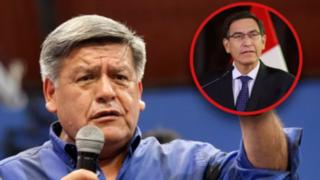 """César Acuña exhorta al presidente Vizcarra a asistir al Congreso """"con humildad"""""""