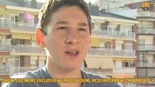 Lionel Messi: comparten primera entrevista del jugador a 20 años de su llegada al club