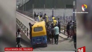 VMT: continúan violentos ataques contra depósito municipal de mototaxis