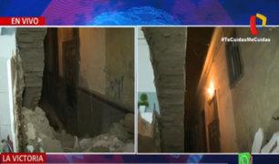 La Victoria: Derrumbe de inmueble deja 2 familias damnificadas