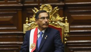 Vacancia presidencial: Vizcarra no asistiría hoy al Congreso de la República