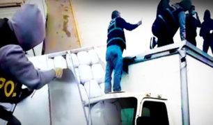Ancón: hallan 126 kilos de marihuana en techo de furgón