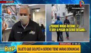 Municipalidad de Miraflores denunció a sujeto que agredió a sereno