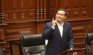 """Martín Vizcarra ante el Congreso: """"Estoy aquí con la frente en alto y con mi conciencia tranquila"""""""