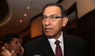 Presidente Vizcarra: Estoy seguro que bancadas del Congreso van a actuar pensando en el Perú