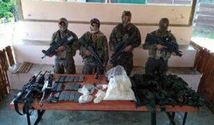 Intervienen a cuatro sujetos con gran cantidad de armamento y droga en Loreto