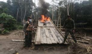 Autoridades  destruyen campamentos de mineros ilegales en Madre de Dios
