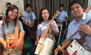 Lanzan concurso nacional de instrumentos musicales con material reciclable