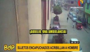 SMP: encapuchados acribillan a vecino del Jr. Salaverry