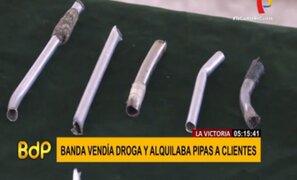 Detienen a banda que vendía droga y alquilaba pipas artesanales a consumidores