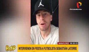 Miraflores: futbolista sebastián La Torre fue intervenido en fiesta clandestina