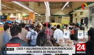 Cajamarca: caos y aglomeración en supermercado por oferta de productos