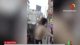 Mujer que se quitó el polo e insultó a policías habría impedido intervención de un delincuente