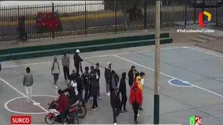 Surco: Intervienen a más de 20 jóvenes que grababan videoclip sin mascarilla y en estado de emergencia