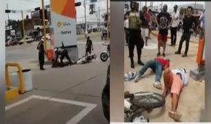 Pucallpa: A balazos capturan a delincuentes que asaltaron tienda de repuestos