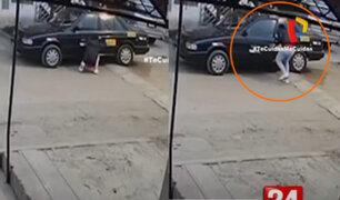 Ladrón roba taxi en apenas 12 segundos en Villa María del Triunfo
