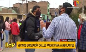 Comas: controversia por colocación de rejas que buscan evitar ingreso de ambulantes