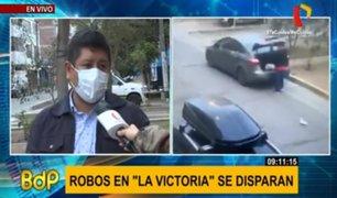 La Victoria: delincuentes atacan las 24 horas en jirón Gutiérrez