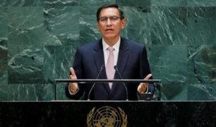 """Vizcarra ante la ONU: """"Entregaré el mando a mi sucesor el 28 de julio del 2021"""""""