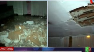 La Victoria: Se desploma techo de antigua vivienda en avenida Canadá