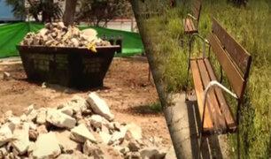 Parques de Pueblo Libre están en abandono por obras inconclusas