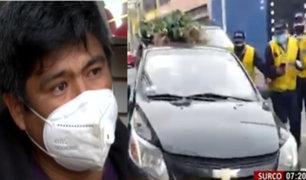 Taxista pide disculpas a las autoridades por haber intentado darse a la fuga durante intervención en Surco